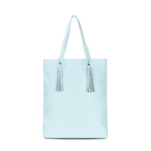 Кожаная сумка POOLPARTY angel-babyblue голубая