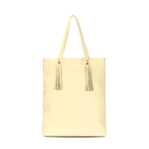 Кожаная сумка POOLPARTY angel-lemonade желтая