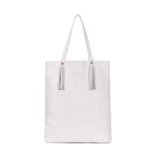 Кожаная сумка POOLPARTY angel-white белая