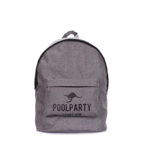 Рюкзак городской POOLPARTY backpack-ripple серый