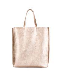 Женская кожаная сумка POOLPARTY city-gold золотая