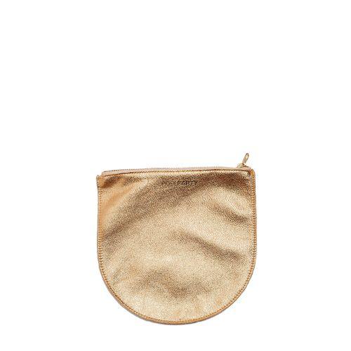 Кожаная косметичка-клатч POOLPARTY cosmetic-pp1-gold золотая