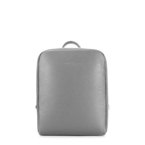 Рюкзак женский кожаный POOLPARTY cult-leather-grey серый