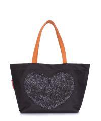 Женская сумка POOLPARTY lovetote-oxford-black черная