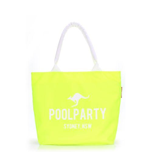 Женская сумка Poolparty pool-7-beach-lemon желтая