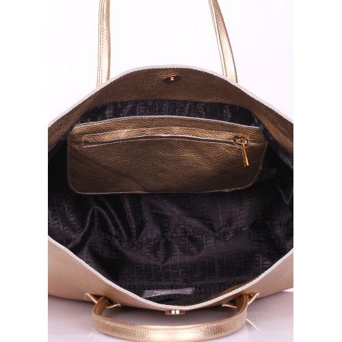 f2a3708b27ec Женская кожаная сумка POOLPARTY sense-gold золотая купить от производителя  недорого в Киеве | Интернет-магазин FASHIONTRENDS