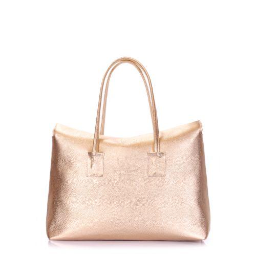 Женская кожаная сумка POOLPARTY sense-gold золотая