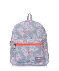 Рюкзак женский POOLPARTY xs-flamingo серый