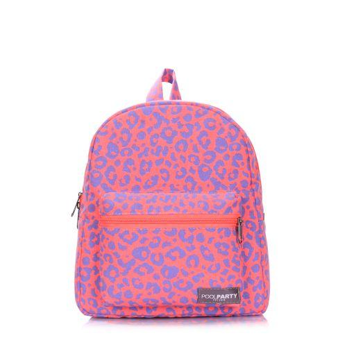 Рюкзак женский POOLPARTY xs-leo розовый