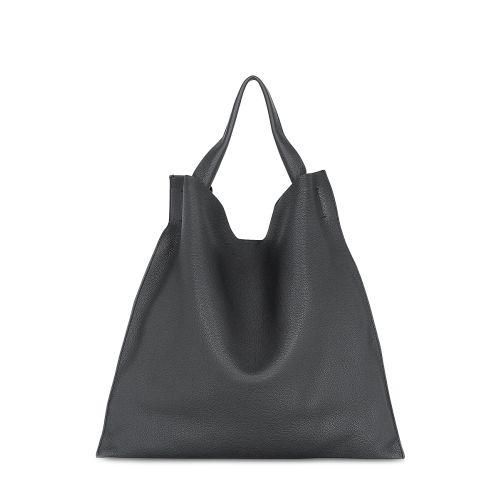 Женская кожаная сумка POOLPARTY bohemia-black черная
