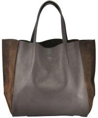 Женская кожаная сумка soho-brown-velour коричневая