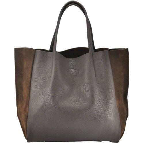 Женская кожаная сумка poolparty-soho-brown-velour коричневая