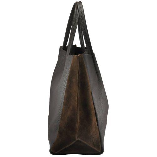 48df71eb8f4d Женская кожаная сумка poolparty-soho-brown-velour коричневая купить в киеве  недорого
