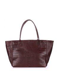 Женская кожаная сумка desire-caiman-brown коричневая