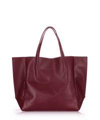Женская кожаная сумка soho-marsala вишневая