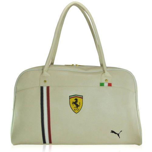 Спортивная сумка Puma Ferrari New молочная