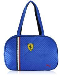 Спортивная сумка стеганая овал синяя