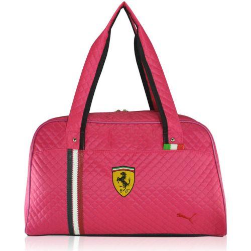 Спортивная сумка Puma Ferrari стеганая New малиновая