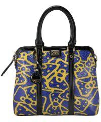 Женская сумка Velina Fabbiano VF-69-107 синяя с желтым