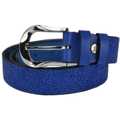 Кожаный ремень 00-08 синий