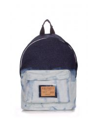 Рюкзак джинсовый PoolParty backpack-bleach-jeans