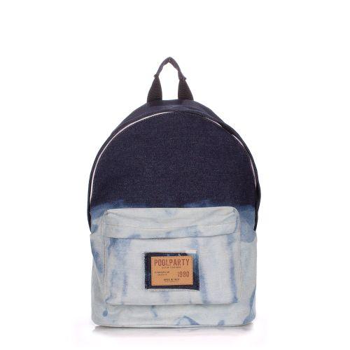 Рюкзак джинсовый PoolParty backpack-bleach-jeans