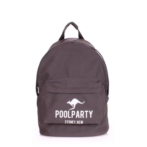 Рюкзак Молодежный PoolParty backpack-kangaroo-grey