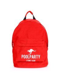 Рюкзак молодежный PoolParty backpack-kangaroo-red