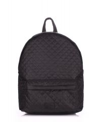 Рюкзак стеганый PoolParty backpack-theone-black