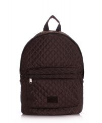 Рюкзак стеганый PoolParty backpack-theone-brown