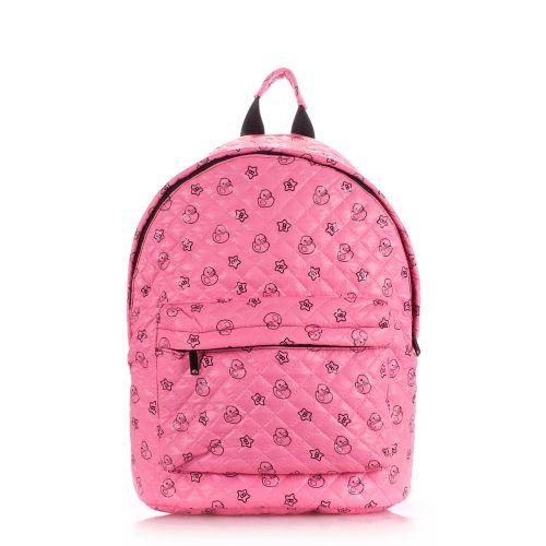 Рюкзак стеганый PoolParty backpack-theone-pink-ducks