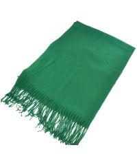 Палантин 11089 зеленый