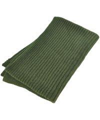 Вязаный шарф 18521 зеленый