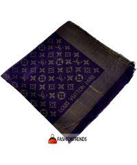 Шаль Louis Vuitton Metal фиолетовая с золотом