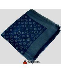 Шаль Louis Vuitton Metal синяя с серебром