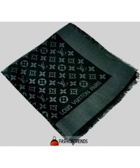 Шаль Louis Vuitton Denim Shawl Metal черная с серебром