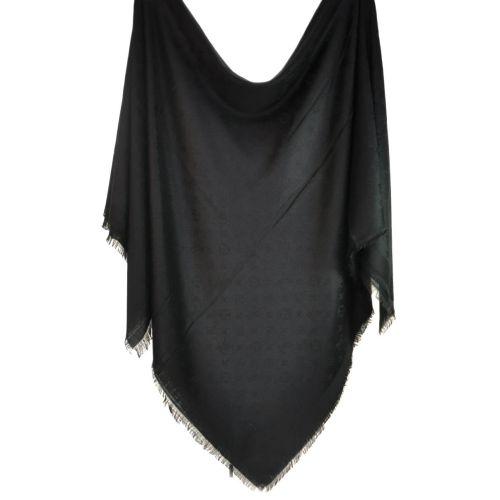 Шаль Louis Vuitton Denim Shawl черная