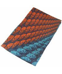Шелковый шарф черепа градиент