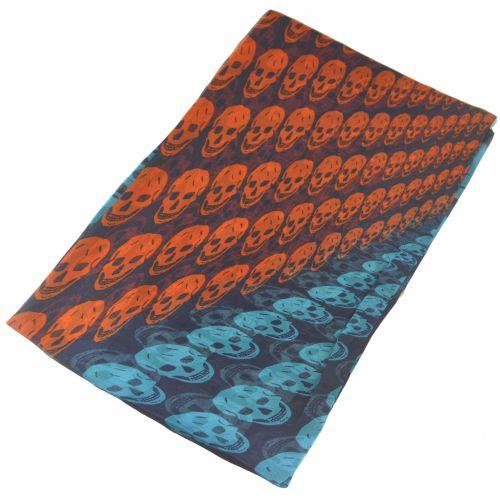 Шелковый шарф Alexander McQueen черепа градиент