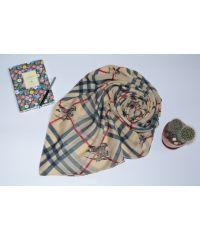 Шелковый шарф B 18068 бежевый