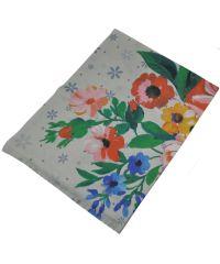 Женский шарф 017439 акварельные цветы белый
