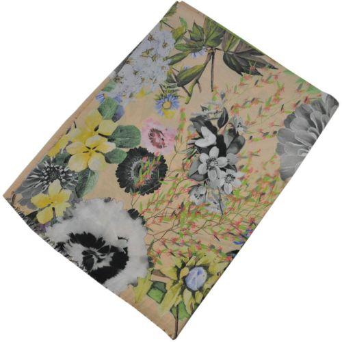 Женский шарф 017433 цветы бежевый