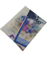 Женский шарф 017463 почтовая марка белый