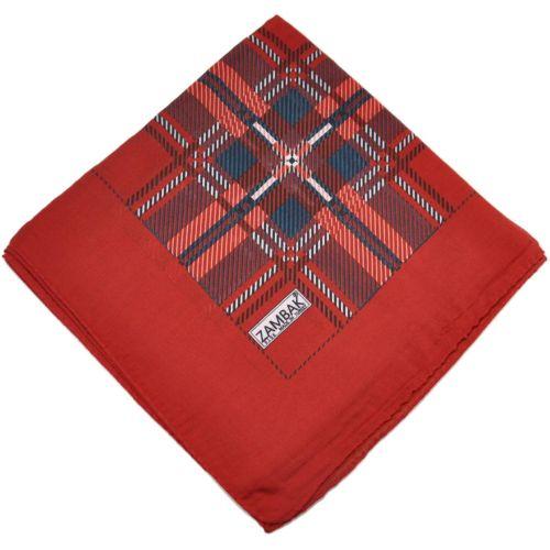 Женский платок клетка красный
