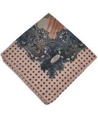 Женский платок горох розовый