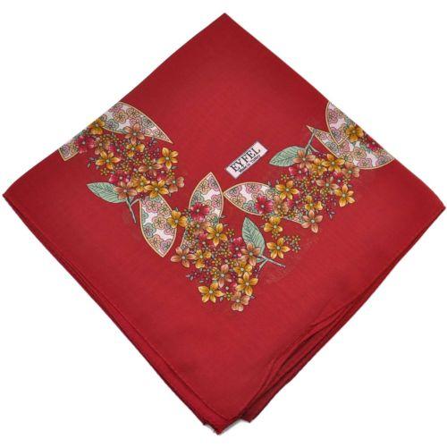 Женский платок 015568 цветочная поляна красный