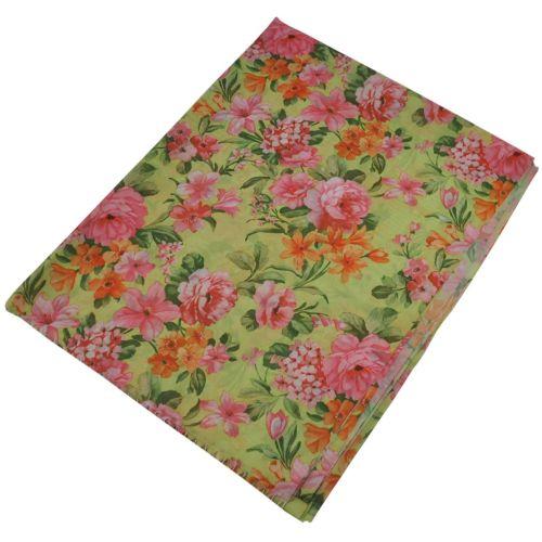 Женский шелковый шарф 017559 дачный букет салатовый