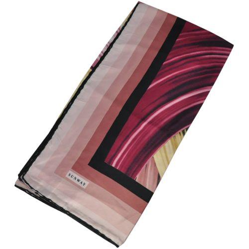 Женский платок 21136 изгибы розовый