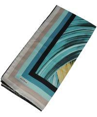 Женский платок 21143 изгибы голубой