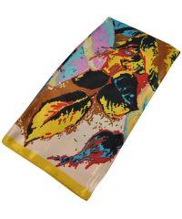 Женский платок 25179 картина маслом желтый
